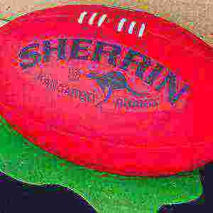 Australian Rules football chocolate cake