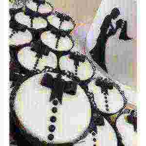 Black and white filigree