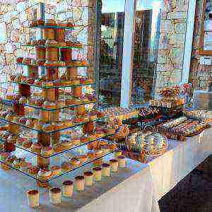 Dessert Bar Glass Tower